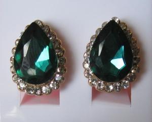 Серьги E-021-green цена