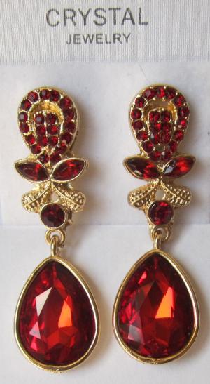 Серьги E-054-red цена