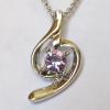 Кулон с цепочкой с розовым кристаллом Сваровски