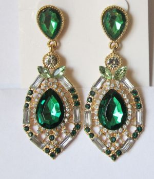 Серьги E-053_green цена