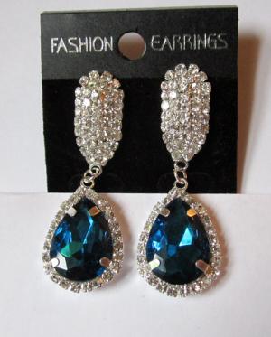 Серьги E-065-blue цена