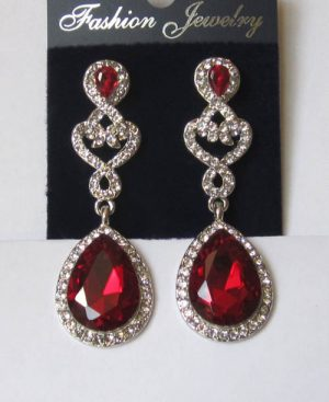 Серьги E-091-red цена