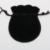 Бархатный мешочек для бижутерии черный