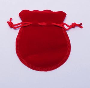Бархатный мешочек для бижутерии красный