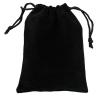 Бархатный мешочек черного цвета