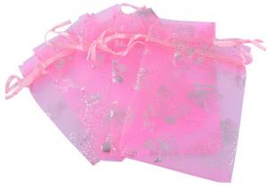 Мешочек для украшений из розовой органзы