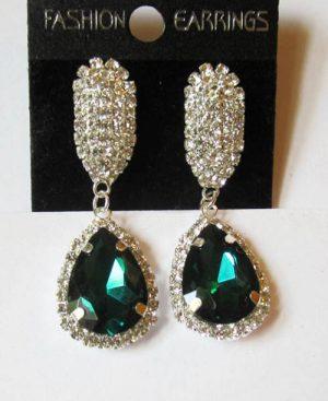 Серьги E-065-green цена