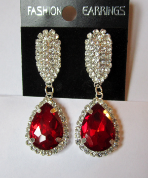 Серьги E-065-red цена