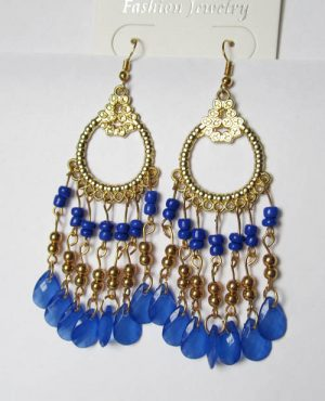 Серьги E-026-blue цена