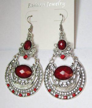 Серьги E-001-red цена