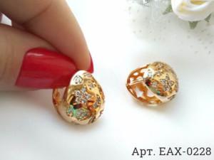 Cерьги позолоченные EAX-0228 цена