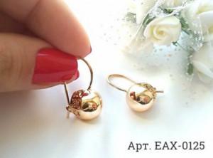Позолоченные серьги EAX-0125 цена