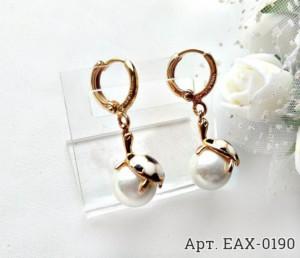 Серьги с жемчугом EAX-0190 на белом фоне