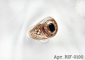 Кольцо мужское RIF-0100 ювелирный сплав