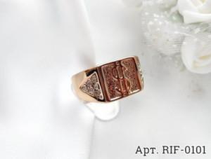 Кольцо мужское позолоченное RIF-0101 цена