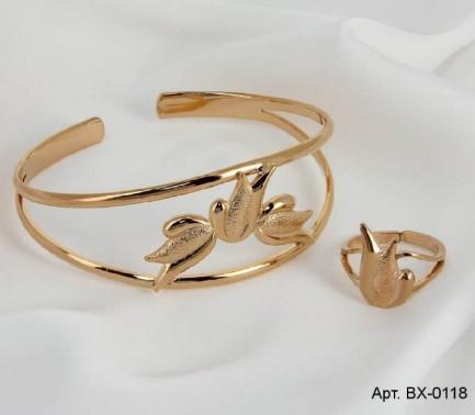 Набор бижутерии с золотым покрытием недорого