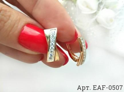 Серьги EAF-0507 классическая бижутерия