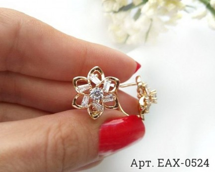 Серьги EAX-0524 в виде цветка