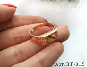 Кольцо мужское RIF-0115 медицинское золото