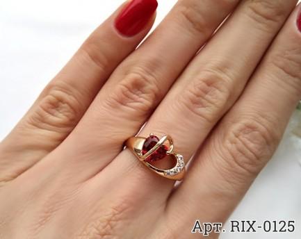 Кольцо позолоченное с фианитами RIX-0125 недорого