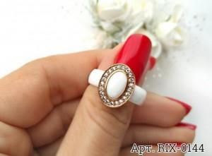 Кольцо белое керамическое RIX-0144 купить