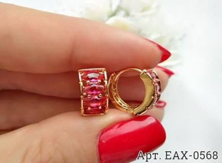 Серьги с цветными фианитами EAX-0568 цена