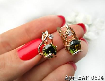 Серьги c цветными фианитами EAF-0604 стоимость