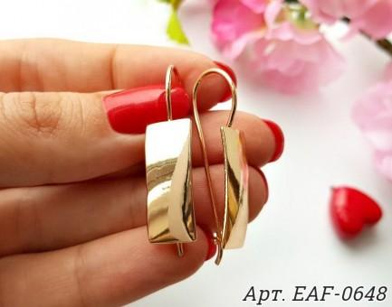Серьги позолоченные EAF-0648 цена