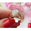 Кольцо позолоченное с фианитовыми вставками RIF-0156 недорого