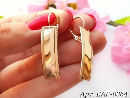 Позолоченные серьги EAF-0364 цена