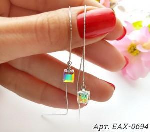 Cерьги-протяжки с кристаллами Сваровски EAX-0694 стоимость