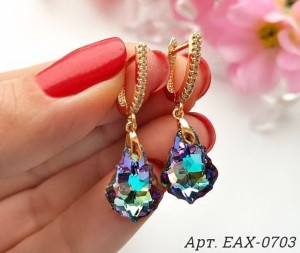 Cерьги с кристаллами Swarovski EAX-0703 цена