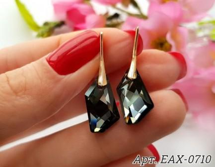 Серьги позолоченные с кристаллами Сваровски EAX-0710 цена