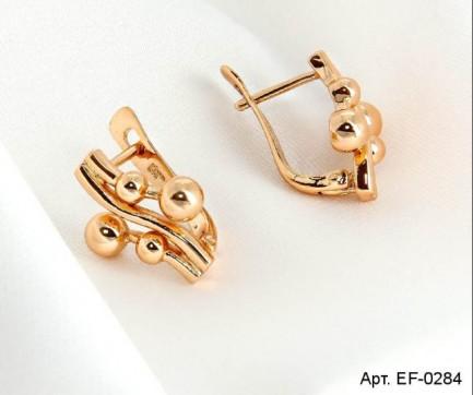 Серьги с золотым покрытием EF-0284 бижутерия под золото