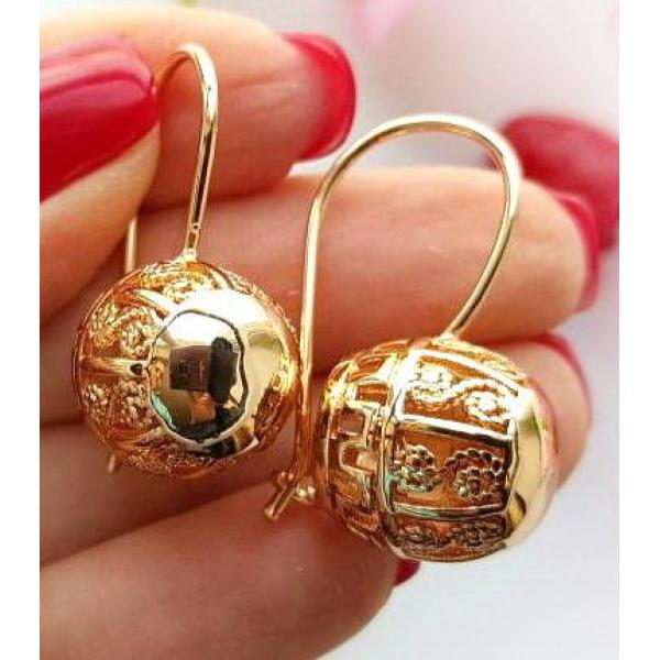 Серьги с золотым покрытием EAX-0126 стоимость