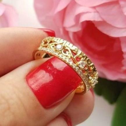 Кольцо Богородица моли Бога о нас RIX-0116 бижутерия