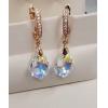 Cерьги позолоченные с кристаллами Swarovski EAX-0663 цена