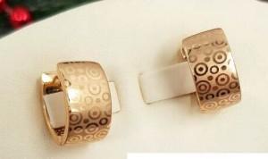 Cерьги с золотым покрытием EAX-0391m цена