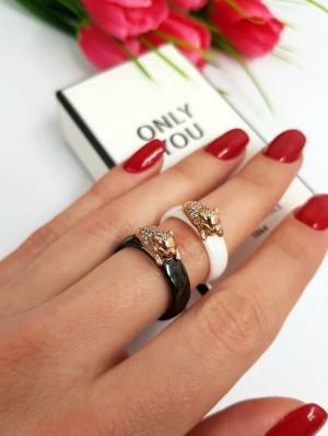 Кольцо белое керамическое RK-0019 недорого