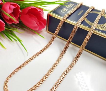 Цепочка и браслет с золотым покрытием