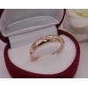 Кольцо позолоченное с фианитами R-0027 медицинское золото