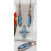 Комплект позолоченной бижутерии с голубыми фианитами