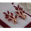 Серьги с красными фианитами EAF-0688 цена