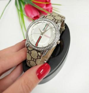 Часы женские кварцевые с плотным ремешком