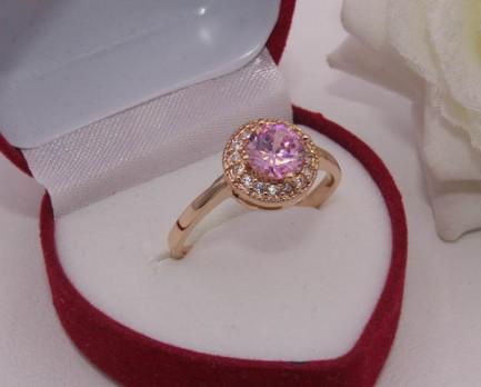 Фианитовое кольцо позолоченное R-0032 недорого