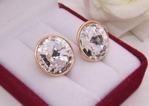 Cерьги c кристаллами Сваровски E-544 цена