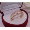 Кольцо позолоченное с фианитами R-0048 медицинская бижутерия