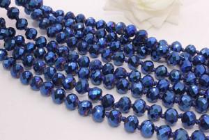 Бусы синего цвета BD-0004