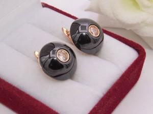 Серьги E-678-g-black цена