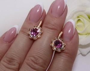 Cерьги с цветными кристаллами Сваровски E-831 цена
